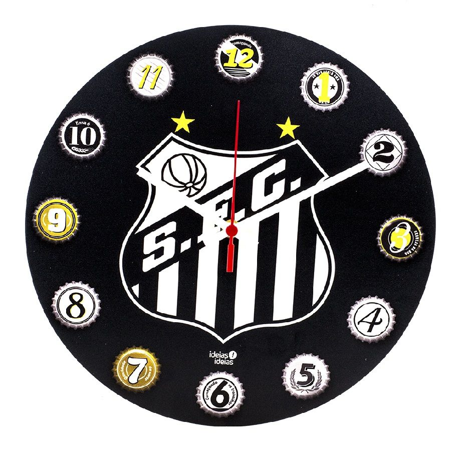 Relógio de Parede MDF 30x30 Santos Ideias ideias