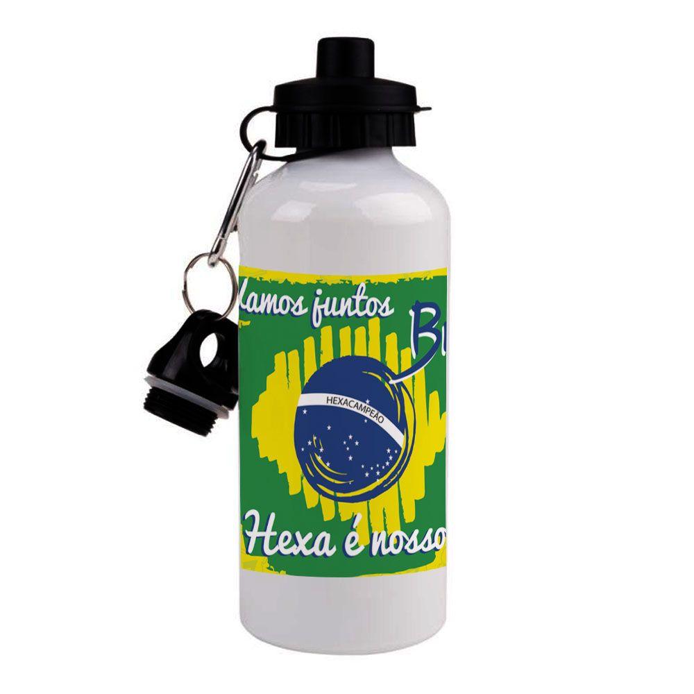 Squeeze Alumínio Bandeira do Brasil 600ml