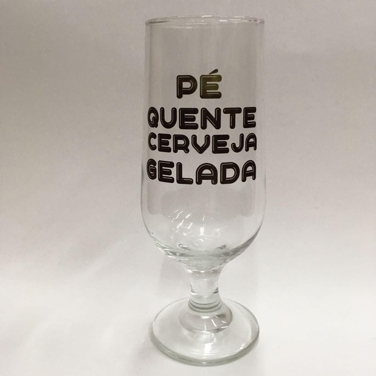 Taça de Cerveja-  Pé Quente 300ml