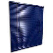 Persiana horizontal de alumínio 25mm cor azul 0,70x0,70M