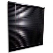 Persiana horizontal de alumínio 25mm cor preta 0,70x0,70M