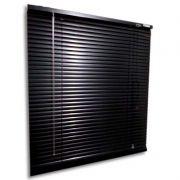 Persiana horizontal de alumínio 25mm cor preta 1,50x1,20M