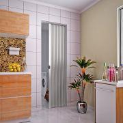 Porta sanfonada em PVC na cor cinza 0,80x2,10M