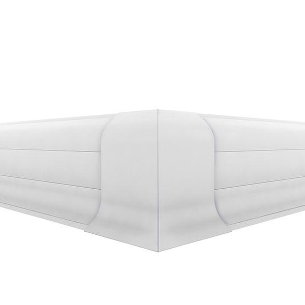 Acabamento rodapé canto externo PVC - Premium 20 unidades