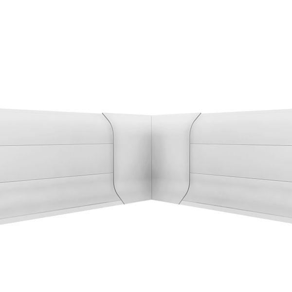 Acabamento rodapé canto interno PVC - Premium 20 unidades