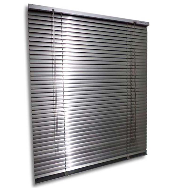 Persiana horizontal de alumínio 25mm cor alumínio 0,70x0,70M