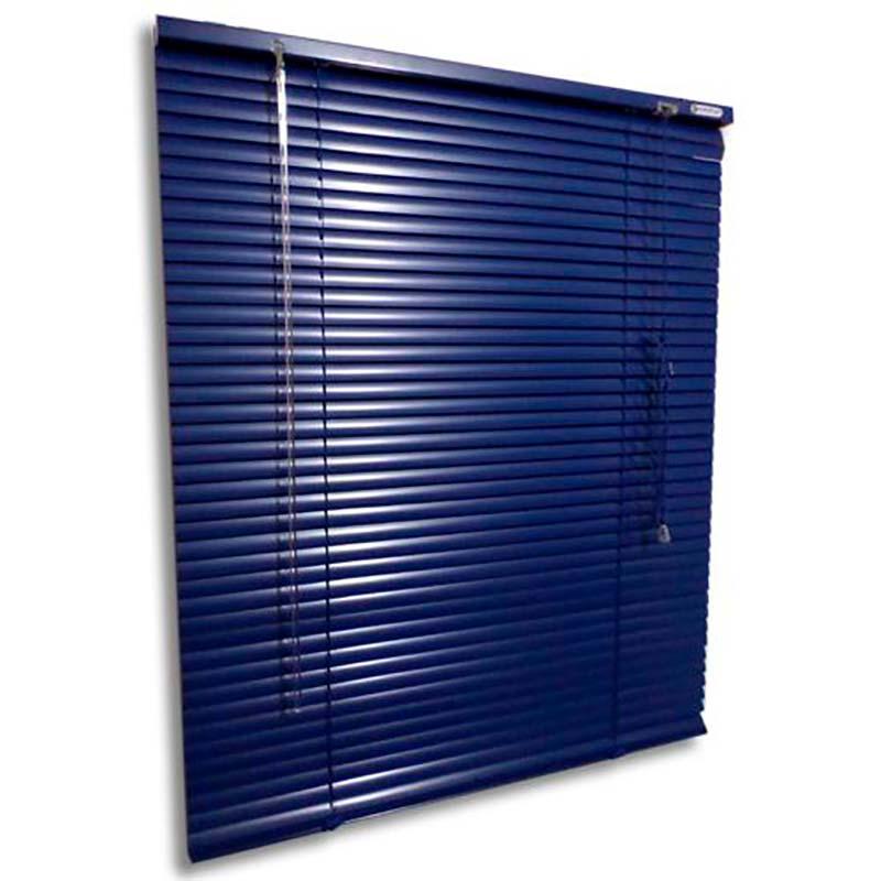 Persiana horizontal de alumínio 25mm cor azul 1,00x0,70M