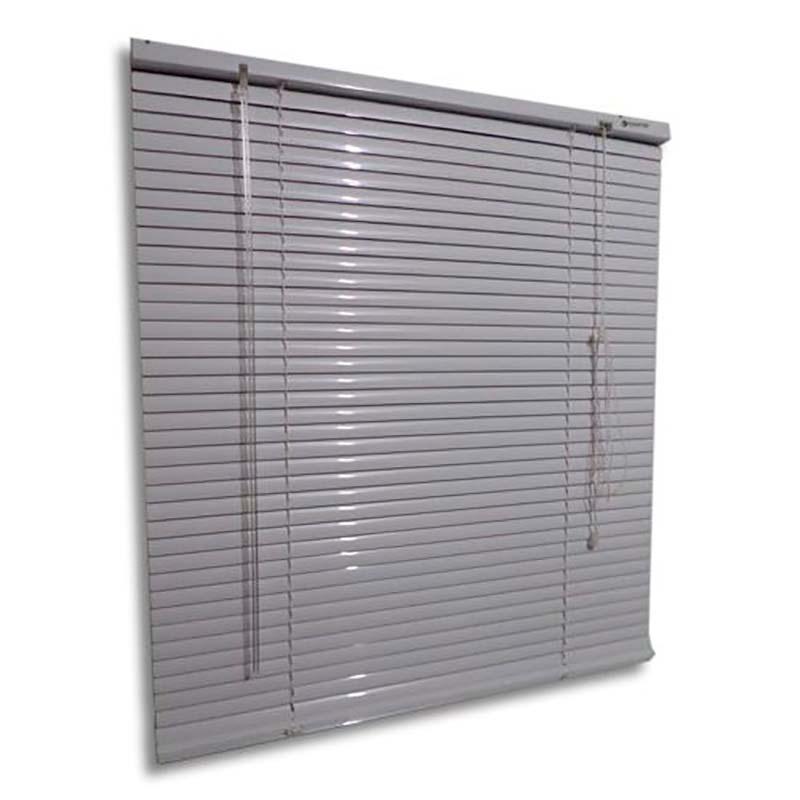 Persiana horizontal de alumínio 25mm cor branca 0,70x0,70M