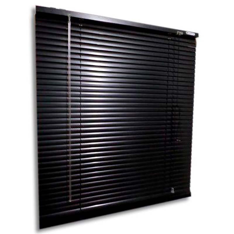Persiana horizontal de alumínio 25mm cor preta 1,00x1,20M