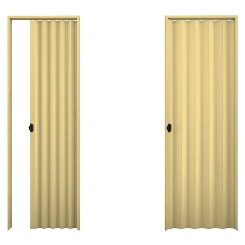 Porta sanfonada em PVC na cor areia 0,90x2,10M