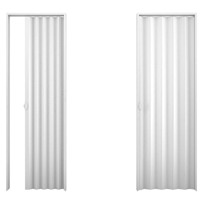 Porta sanfonada em PVC na cor branca 0,90x2,10M