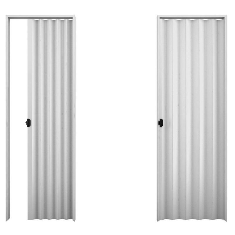 Porta sanfonada em PVC na cor cinza 0,90x2,10M