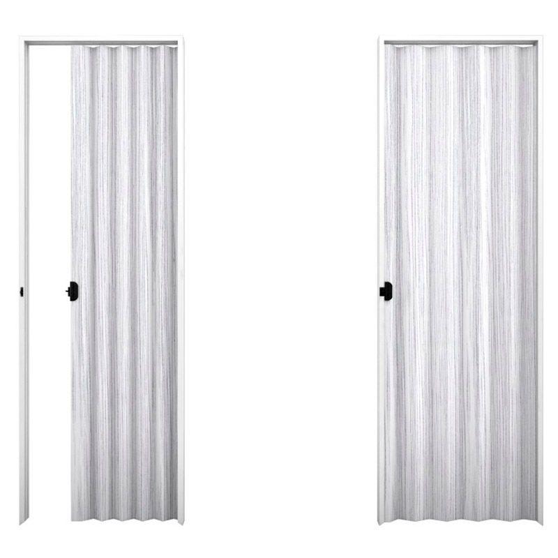 Porta sanfonada em PVC na cor Mont Blanc 0,80x2,10M