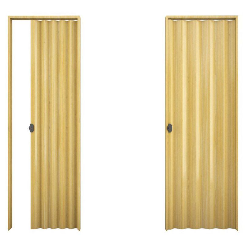 Porta sanfonada em PVC na cor natural 1,00x2,10M