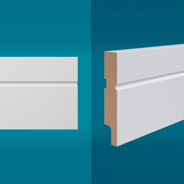 Rodapé em MDF 210 x 10 cm Branco - Linha Essencial E-03