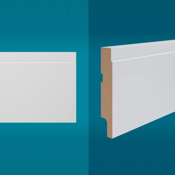 Rodapé em MDF 210 x 10 cm Branco - Linha Essencial E-06