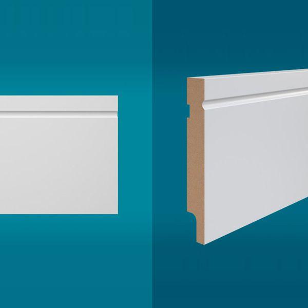 Rodapé em MDF 210 x 12 cm Branco - Linha Easy Y-01