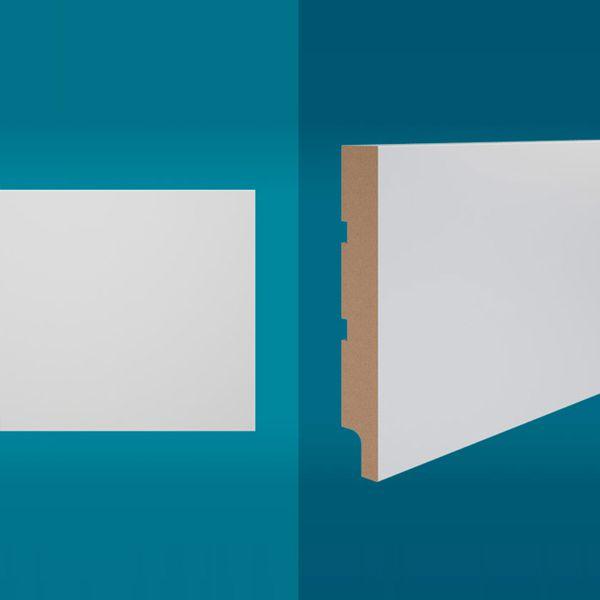 Rodapé em MDF 210 x 15 cm Branco - Linha Essencial E-05
