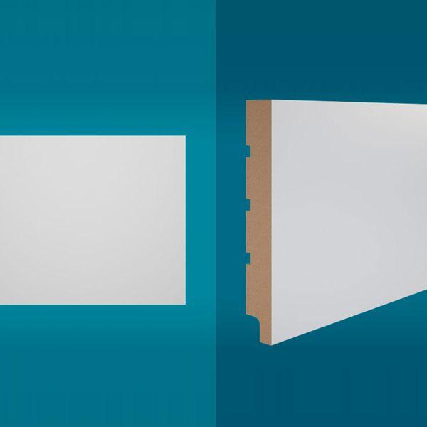 Rodapé em MDF 210 x 20 cm Branco - Linha Essencial E-05