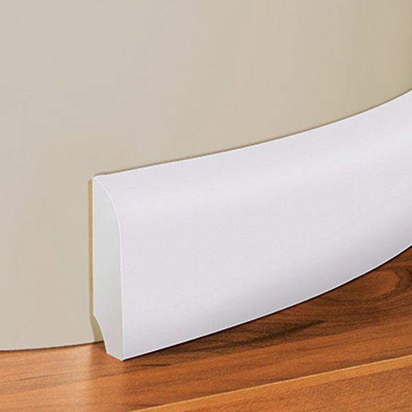 Rodapé em poliestireno EVA 60mm Branco Eucafloor - Linha flexível