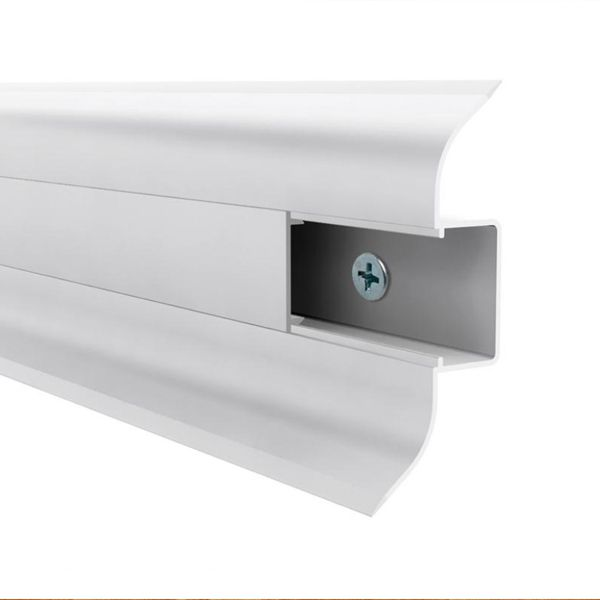 Rodapé PVC Premium 240 x 7 cm - Gelo