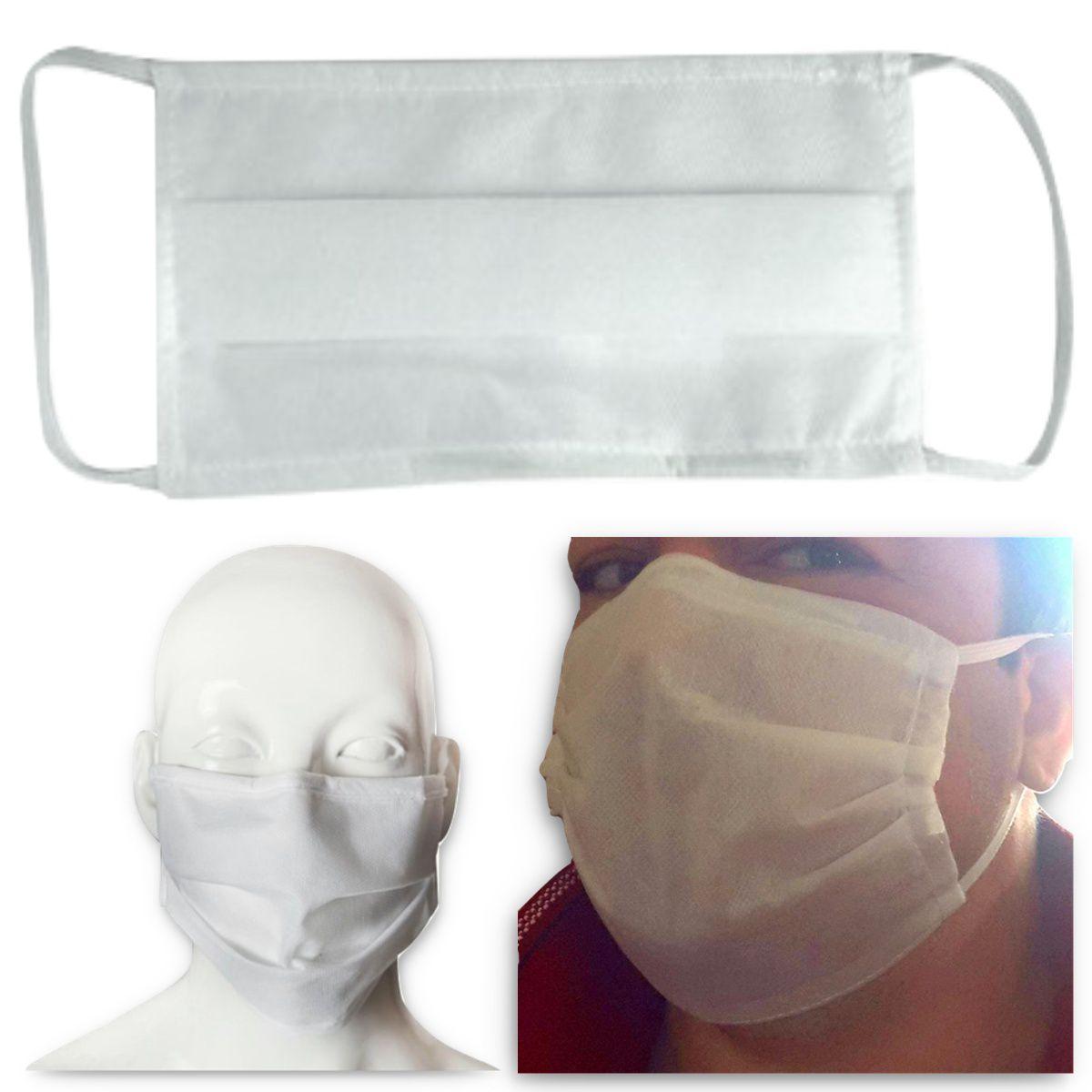 100 Unidades Máscara TNT Duplo Proteção Respiratória Descartável - Lunak´s