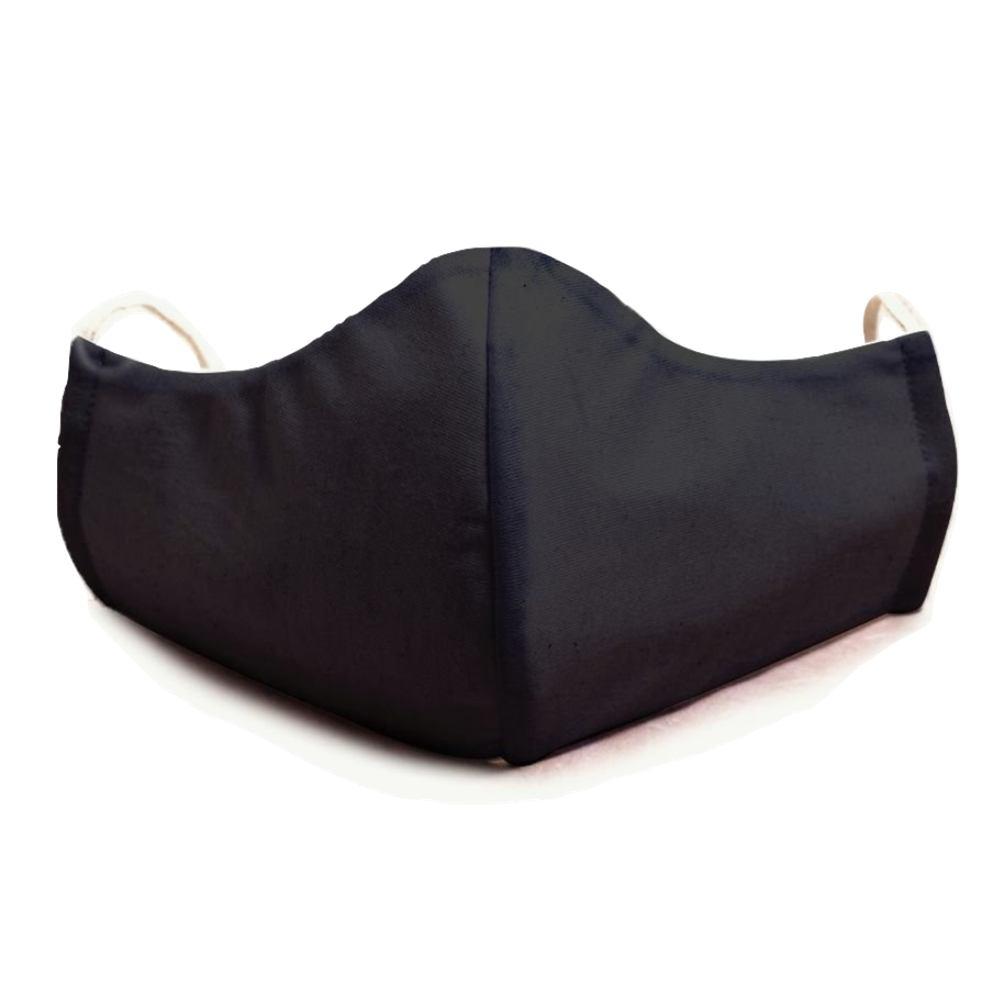 10 Unidades Máscara Tecido Duplo Reutilizável Algodão Tricoline Preta - Lunak´s