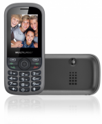 Celular Up 3chip Quad Cam Mp3/4 Fm Preto/cinza Multilaser -