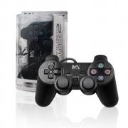 Controle Ps2 Dualshock Com Fio Preto Play Analogico
