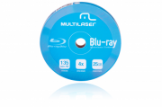 DVD-R Blu-ray 4X c/ 10 Shirink Print Branco Multilaser - DV0