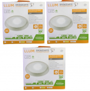 Kit 3 Luminárias Led de Embutir Amarela Solution Led Inside LLUM - 127V 20W
