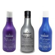 KIT 3 MATIZADORES  -  BLACK PLATINUM + BLONDE PLATINUM + PLATINUM MASK NUANCE
