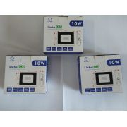 KIT 3 REFLETORES LED SMD 10W 6500K UPLED