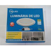 LUM. DE VIDRO RED. DE EMBUTIR 18W C/ LED LUZ MORNA