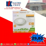 Luminária Led de Embutir Amarela Solution Led Inside LLUM - 127V 20W