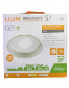 Luminária Led de Embutir Branca Solution Led Inside LLUM - 127V 20W