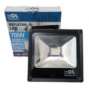 Refletor de Led 70W Luz Branca 6500K IP65 Bivolt