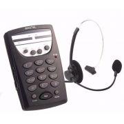 Telefone Headset Profissional Telemarketing C/ Fone Articulado Mt-108 Maxtel