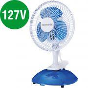 Ventilador Mini 20cm Ventisol Branco e Azul Premium - 110V