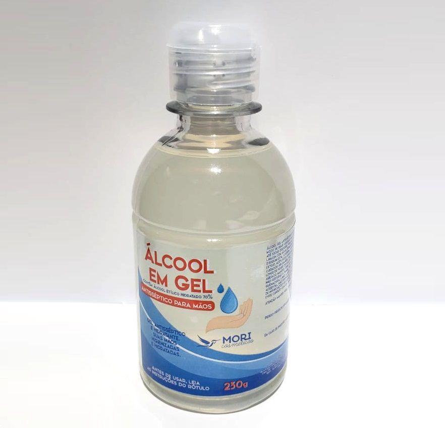 3 Unidades Álcool Em Gel 70% Antisséptico e Hidratante Mori - 230g