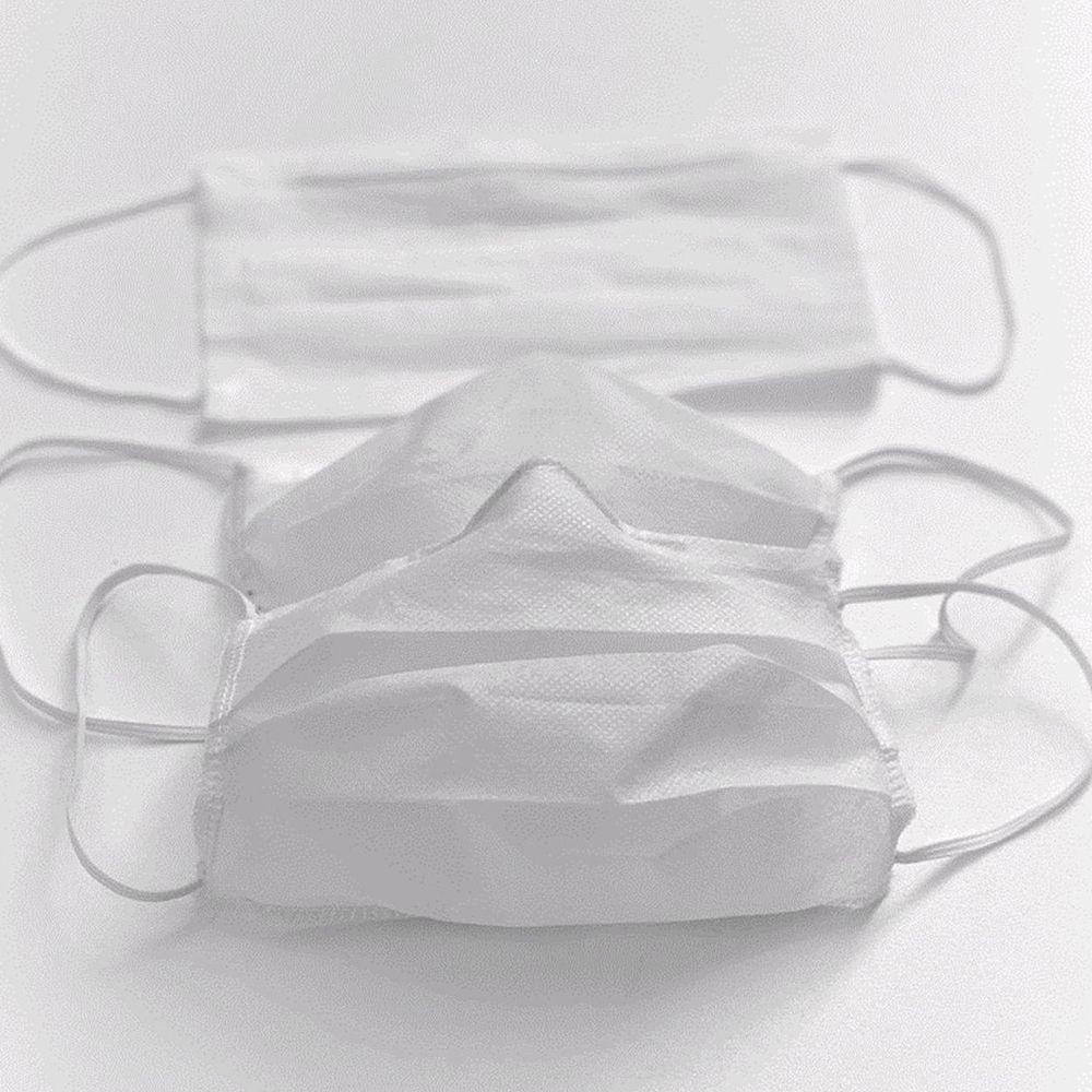 50 Unidades Máscara Tnt Dupla Proteção Descartável - Lunak´s