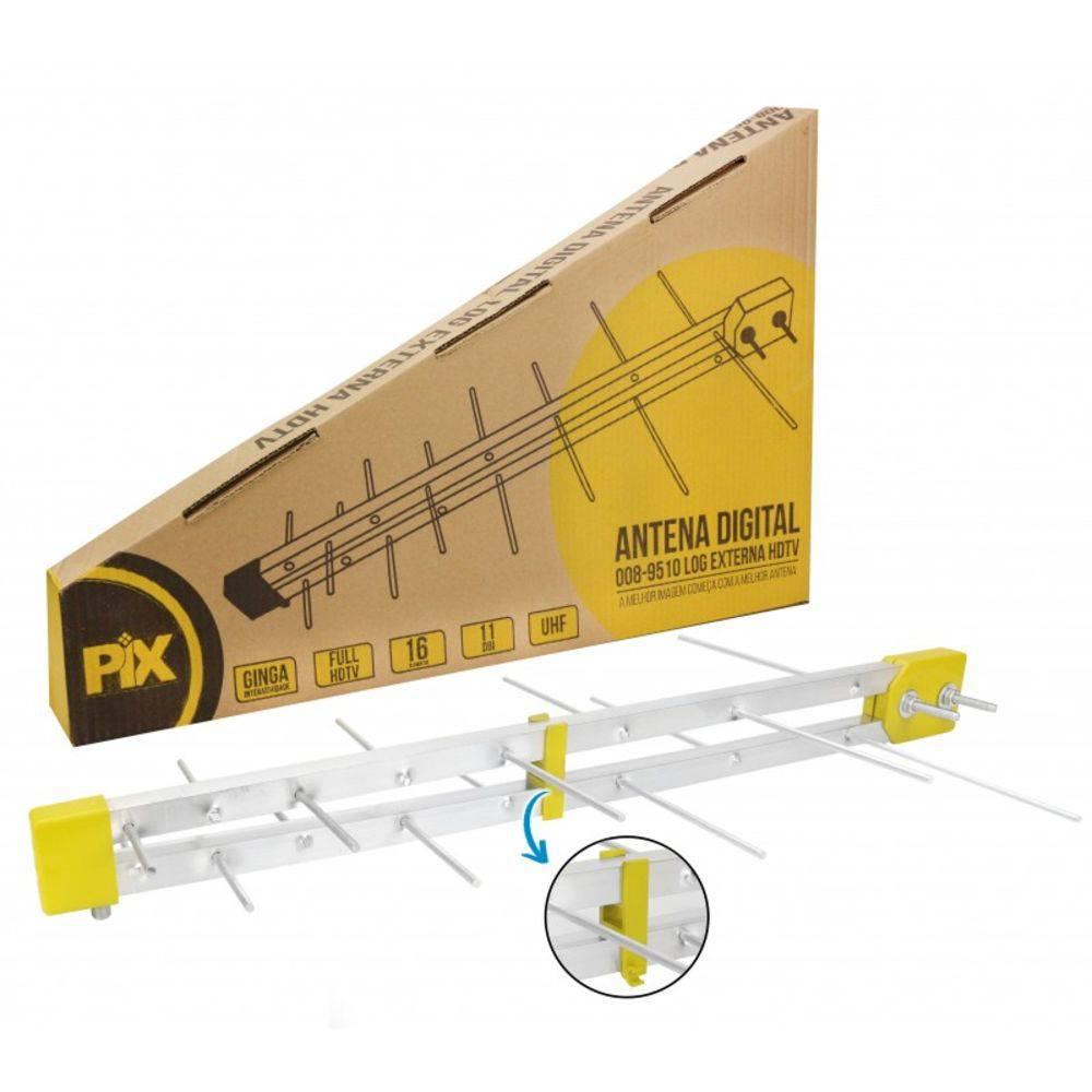Antena Digital Externa HDTV LOG 16 Elementos PIX