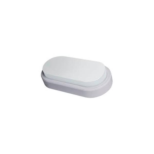 Arandela Led Oval Flat Branco Frio DEMI - 14W 6500K