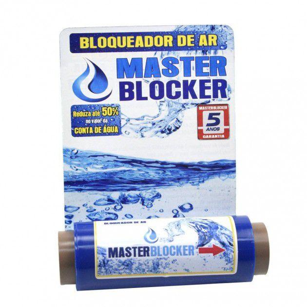 """Bloqueador de Ar MasterBlocker 3/4"""" com Redução de 1/2"""