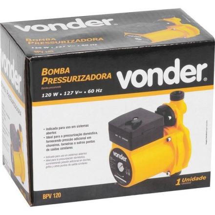 Bomba Pressurizadora 120w 127v Bpv 120 Vonder
