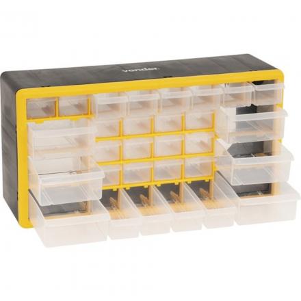 Caixa Organizador Plástico Com 30 Gavetas Opv 300 Vonder