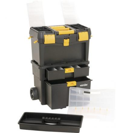 Caixa Plástica Para Ferramentas C/ Rodas Crv0100 Vonder