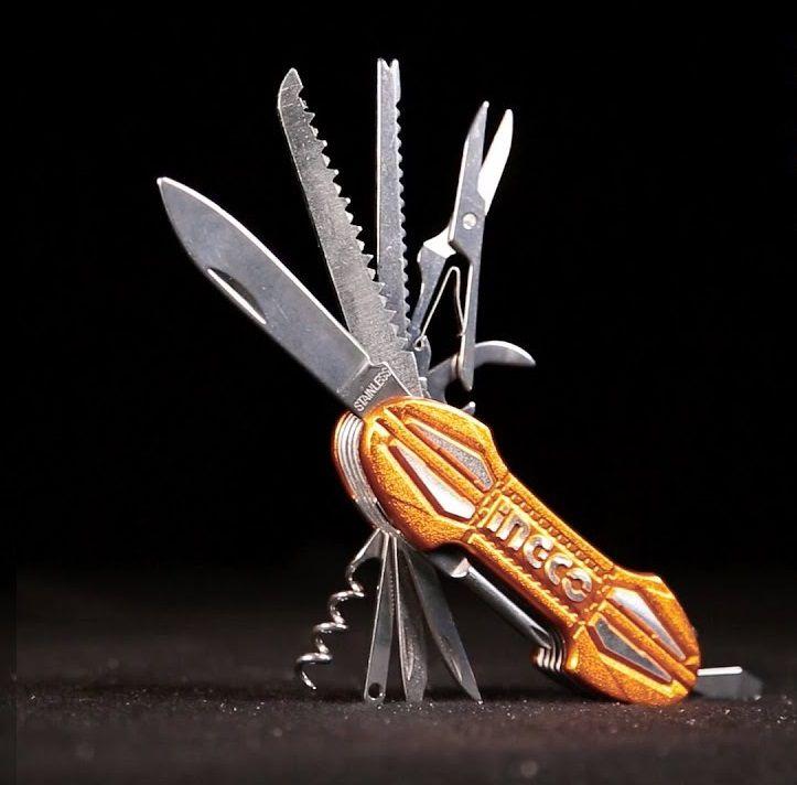 Canivete Multifuncional Profissional Industrial Com 15 Funções INGCO