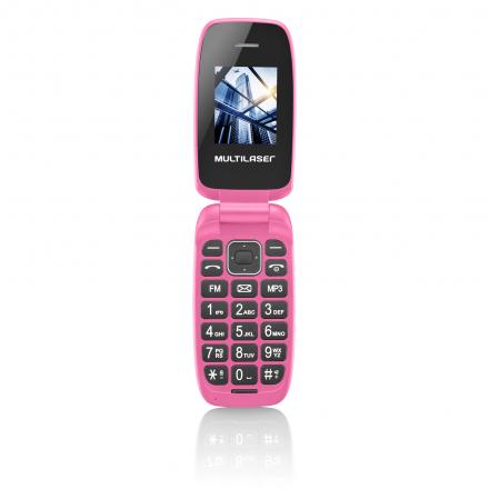 Celular Flip Up Câmera MP3 Dual Chip Rosa Multilaser - P9023