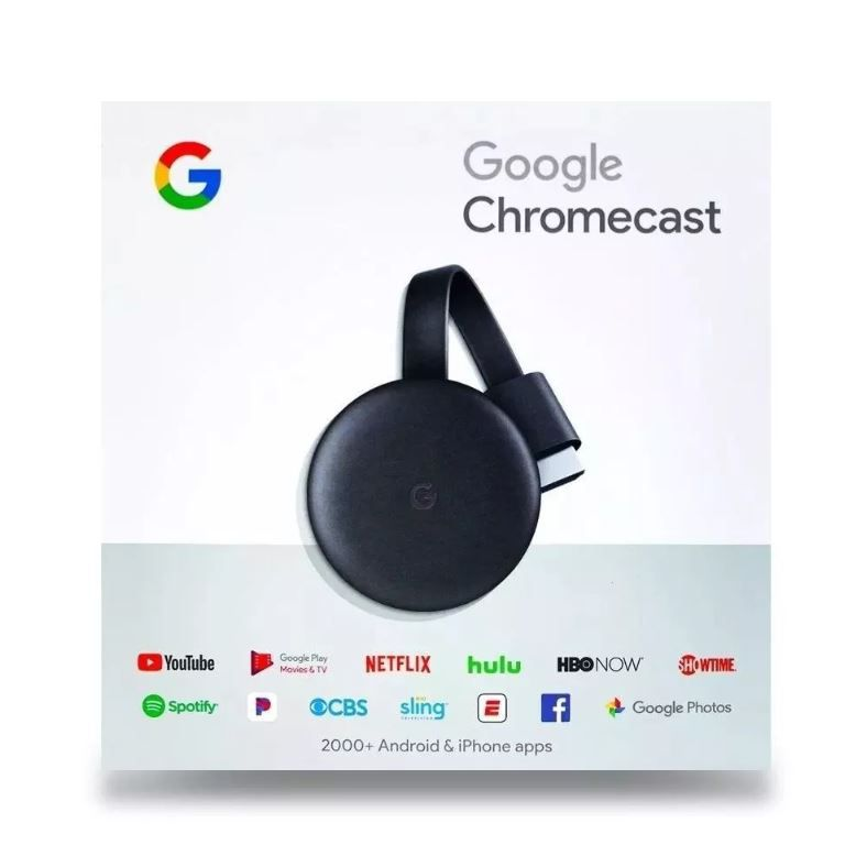 Google Chromecast 3 Streaming Media Player Geração 2019